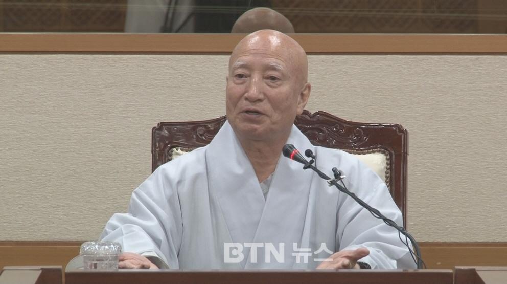 """조계종 총무원장 설정스님 """"2018년 12월 31일 사퇴"""""""